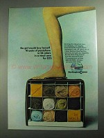 1968 Burlington Cameo Pantyhose Ad - No Girl Would