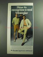 1968 Mr. Wrangler Sportswear Ad - How To Recognize