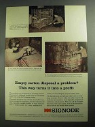 1968 Signode Strapping System Ad - Empty Carton