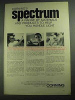 1968 Corning Glass Works Ad - Spectrum A Range