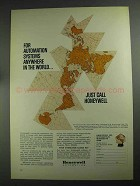 1968 Honeywell Automation Ad - Anywhere in World