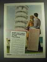 1968 Oasis Water Coolers Ad - Bend Over Backwards
