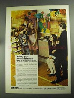 1968 Oasis Water Coolers Ad - Nobody Pays Attention