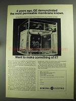 1968 General Electric Permeable Membrane Ad - 4 Years