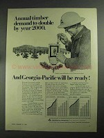1968 Georgia-Pacific Corporation Ad - Timber Demand