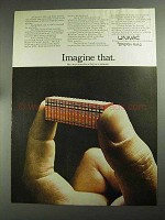 1968 Univac 494 Real-Time Compute System Ad - Imagine