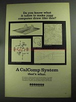 1968 CalComp Plotter and Software Ad - Draw Like This