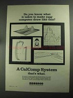 1968 CalComp Plotter and Software Ad - Do You Know What it Takes