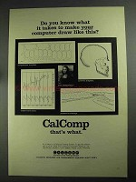 1968 CalComp Plotter and Software Ad - Draw