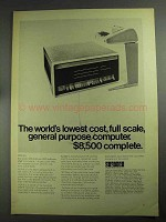 1968 Digital PDP-8/L Computer Ad - Lowest Cost