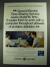1968 General Electric Time-Sharing Service Ad, Students