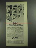 1968 Wang 300 Series Calculator / Computing Systems Ad