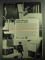 1968 Burroughs Computer Ad - 8500, 6500/7500, 5500, 500