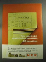 1968 NCR National Cash Register Ad - Magnetic Strips
