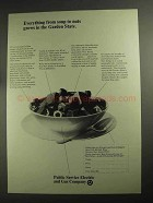 1968 Public Service Electric and Gas Company Ad - Soup