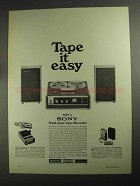 1968 Sony Model 230 Solid-State Tape Recorder Ad