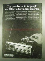 1968 Panasonic RF-7270 Royalaire Radio/Tape Recorder Ad