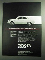 1968 Toyota Corona Ad - One More Thing Toyota Gives