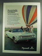 1968 Plymouth Satellite Ad - Hottest Year in History