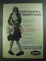 1968 National Car Rental Ad - It Isn't Easy To Be