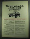 1968 Leyland Motor Rover 2000 Car Ad - Best Ever