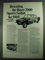 1969 Leyland Motor Rover 2000 Sports Sedan Car Ad