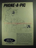 1968 Ford Motor Company Ad - Phone-a-Pig
