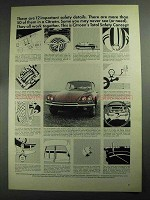 1968 Citroen Car Ad - 12 Important Safety Details