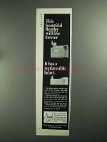 1968 Bentley Lighter Ad - Beautiful Will Live Forever
