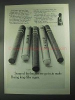 1968 Bering Cigars Ad - Some Of The Lengths