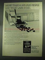 1968 Lark Cigarettes Ad - More Than a Million People