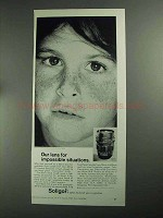1968 Soligor 85mm f1.5 Lens Ad - Impossible Situations