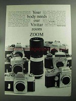 1968 Vivitar Automatic 85-205mm Zoom Lens Ad - Your Body Needs
