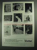 1968 Vivitar Lenses Ad - These Photographs