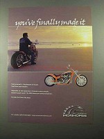 2004 American Ironhorse Slammer Motorcycle Ad - Made It