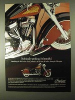 2002 Indian Chief Motorcycle Ad - Technically Speaking