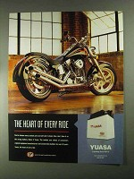 2001 Yuasa Battery Ad - The Heart of Every Ride