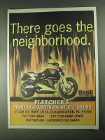 2001 Buell Motorcycle Ad - There Goes the Neighborhood