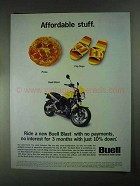 2001 Buell Blast Motorcycle Ad - Affordable Stuff
