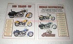 2001 Indian Motorcycle Ad - Chief, Scout, Spirit +