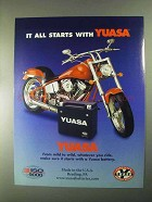 2000 Yuasa Battery Ad - It All Starts With Yuasa