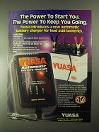 2000 Yuasa Battery & Charger Ad - Power to Start You