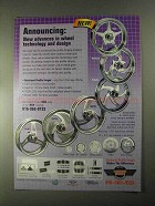 2000 Carriage Works Wheels Ad - Aztec, Hurricane