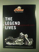 2000 Indian Chief Motorcycle Ad - The Legend Lives