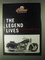 2000 Indian Chief Motorcycle Ad - Legend Lives