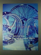 2000 Drag Specialties Motorcycle Parts Ad - Wheels