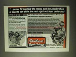 2000 Edelbrock Dual-Carb Set-Ups Ad - Power Throughout