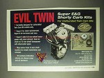 2000 S&S Super E&G Shorty Carb Kits Ad - Evil Twin