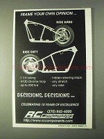 2000 RC Components Frames Ad - Your Own Opinion