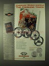 1999 Biker's Works Carriage Works Wheels Ad - Hurricane